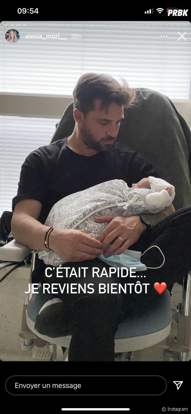 Alexia Mori maman pour la troisième fois : elle poste une photo du papa et de Camille