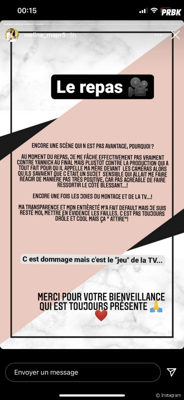 Mélina (Mariés au premier regard 2021) : sa mise au point après sa dispute avec Yannick