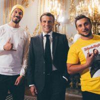 Emmanuel Macron relève le défi de McFly et Carlito : il les montre en photo lors d'un discours