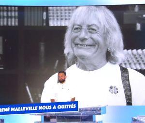 Cyril Hanouna et toute l'équipe de TPMP rendent hommage à René Malleville après son décès, le 20 septembre 2021 sur C8