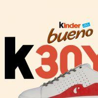 Kinder Bueno : Ferrero imagine une paire de sneakers en édition ultra limitée pour les 30 ans
