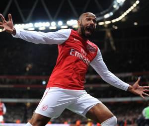 Thierry Henry fou de joie après son but face à Leeds