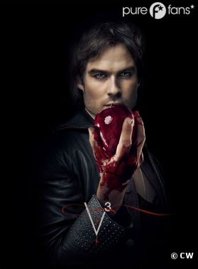 Ian Somerhalder sur un poster de la saison 3 de Vampire Diaries