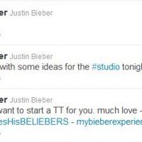 Justin Bieber rameute ses beliebers sur Twitter ... pour leur dire merci !