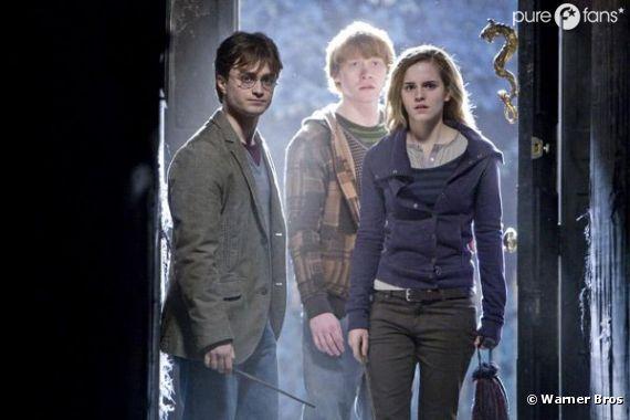 Harry, Hermione et Ron dans un Harry Potter