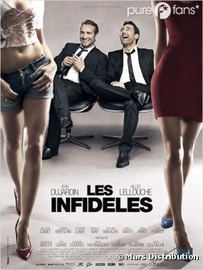 La première affiche du film Les Infidèles