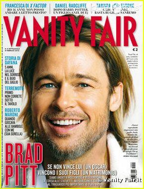 Brad Pitt en couverture de Vanity Fair Italia