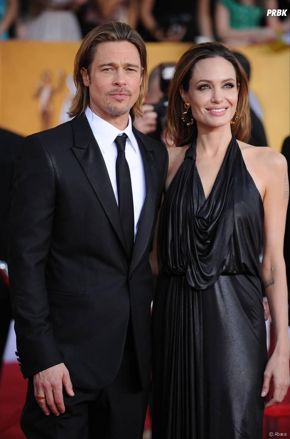 Brad Pitt avec sa compagne depuis 7 ans Angelina Jolie