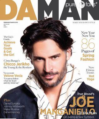 Joe Manganiello en couverture de Da Man