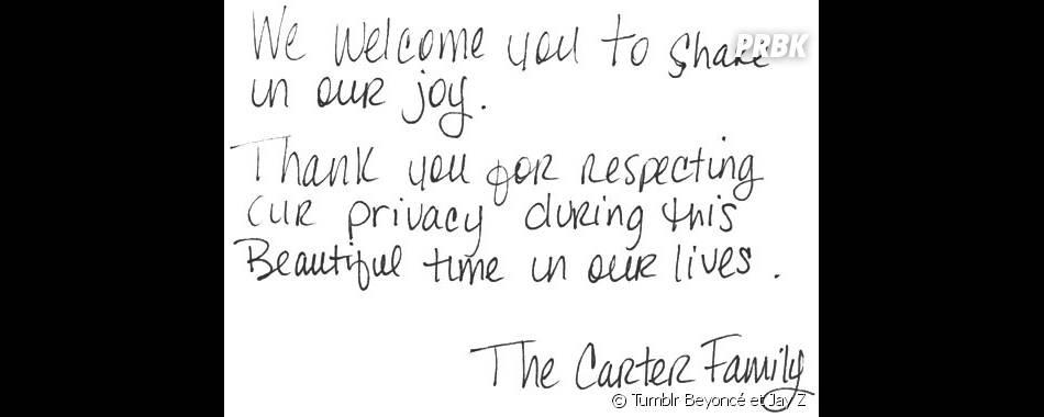 Le message de Beyoncé et Jay-Z