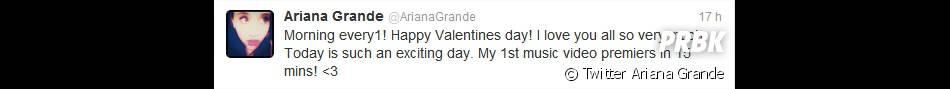Ariana annonce l'arrivée de son clip
