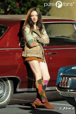 Amanda Seyfried sur le tournage de Lovelace