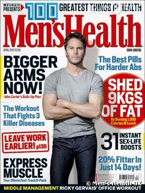 Taylor Kitsch en couv de Men's Health UK pour la promo de John Carter
