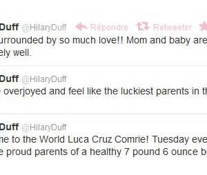 Hilary Duff a choisi Twitter pour annoncer la bonne nouvelle !