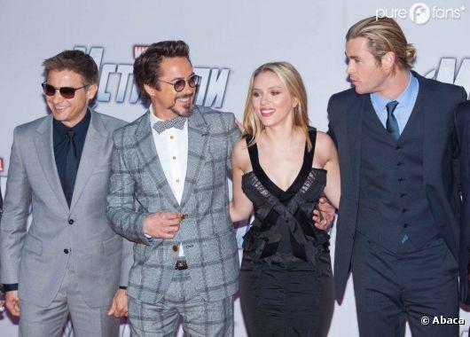 Les stars d'Avengers à Moscou