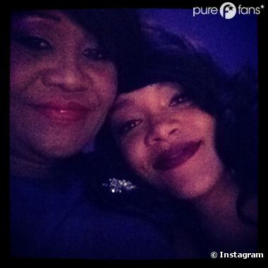 Rihanna et sa maman durant la soirée Time