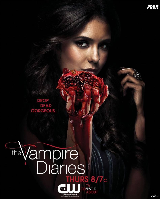 Elena sanglante pour la saison 3 de Vampire Diaries