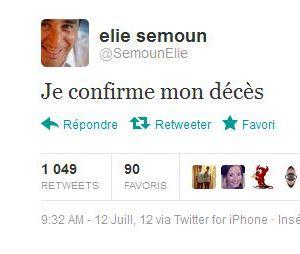 Elie Semoun confirme sa propre mort !