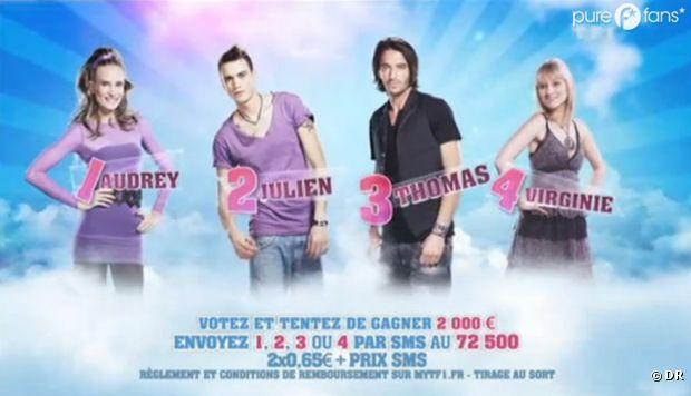 Qui d'Audrey, Julien, Thomas ou Virginie partira vendredi soir ?