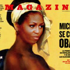 Michelle Obama : cover girl en mode esclave et seins nus !