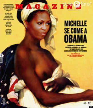 Michelle Obama, en mode esclave en Une d'un mag' espagnol !