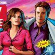 Castle et Beckett en mode comics