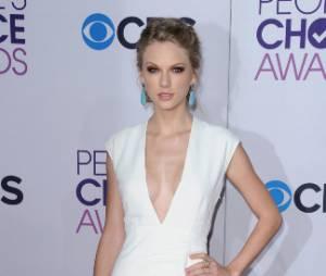 Taylor Swift n'a pas caché son décolleté aux PCA 2013