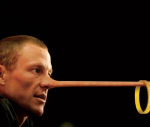 Lance Armstrong transformé en Pinocchio par Andrew Corsello pour GQ