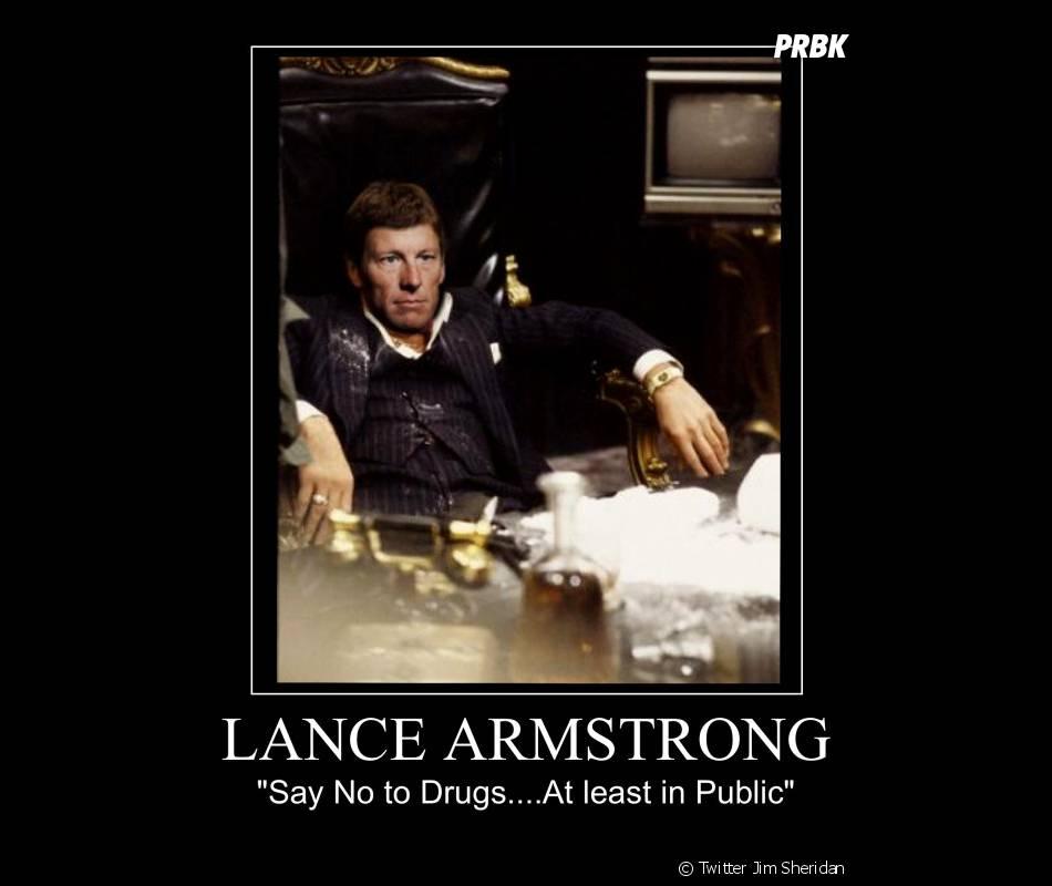 Lance Armstrong à la mode Scarface