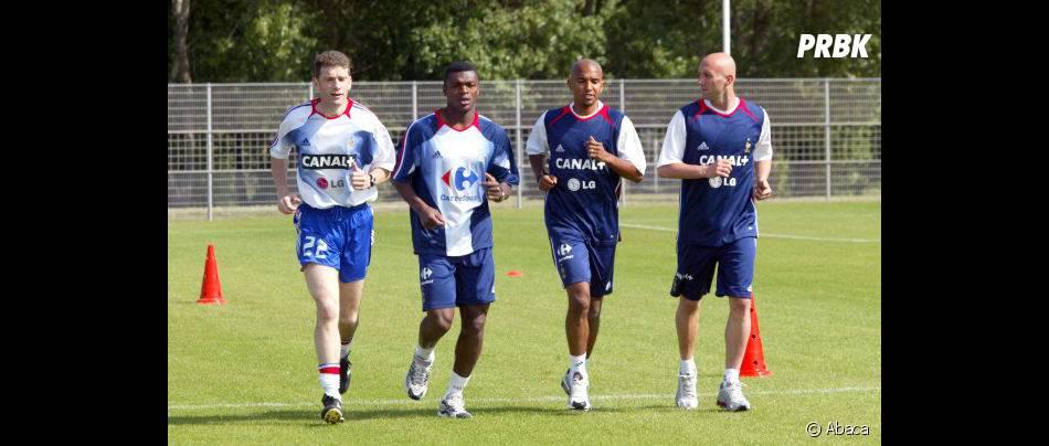 Marcel Desailly avec ses coéquipiers de l'équipe de France