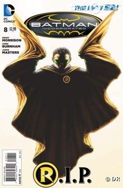L'épisode de la bd Batman où meurt Robin sort aujourd'hui aux USA