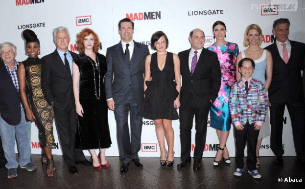 Les acteurs de Mad Men rassemblés pour fêter la saison 6 de Mad Men