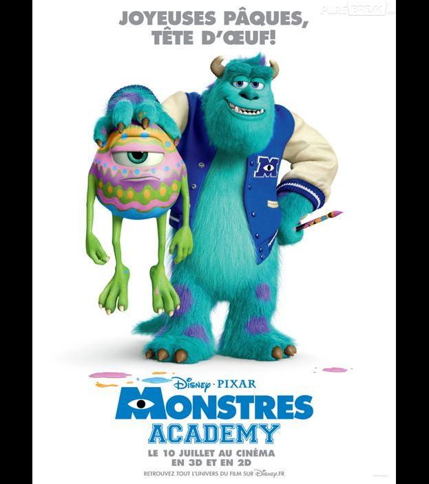 Bob et Sulli souhaitent une Joyeuse Pâques, avant la sortie du film Monstres Academy en juillet 2013