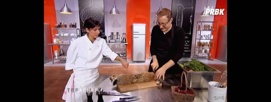 Naoëlle D'Hainaut a fait équipe avec le comédien Alexandre Pesle dans Top Chef 2013.