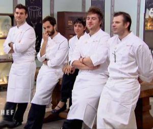 Les candidats ont pu suivre la dégustation des plats sur un écran dans Top Chef 2013.