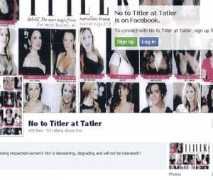 Sur Facebook, un groupe No to Titler at Tatler est crée en réponse au classement des plus belles poitrines publié dans le numéro de mai 2013