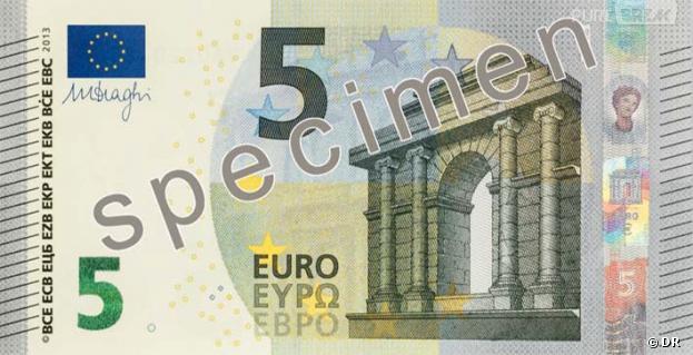 Le nouveau billet de 5 euros bientôt mis en circulation