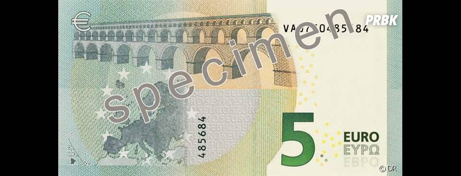 Des changements minimes pour le nouveau billet de 5 euros