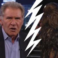 Star Wars : clash entre Harrison Ford et Chewbacca chez Jimmy Kimmel