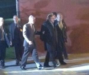 Toute première image du tournage du film sur DSK avec Gérard Depardieu