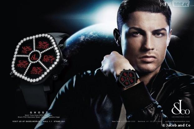 Cristiano Ronaldo, séducteur pour Jacob & Co