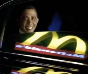 Barack Obama dans une publicité McDonalds...ou presque.