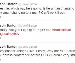 Sur Twitter, Joey Barton s'en était pris à Thiago Silva