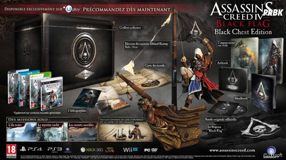 L'édition Black Chest d'Assassin's Creed 4 Black Flag