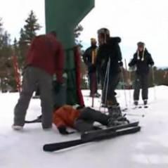 Les Anges de la télé-réalité 5 : gamelle délirante au ski pour Thomas