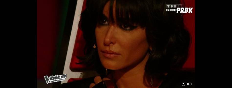 Jenifer a versé une larmichette pendant la performance d'Olympe dans The Voice 2.