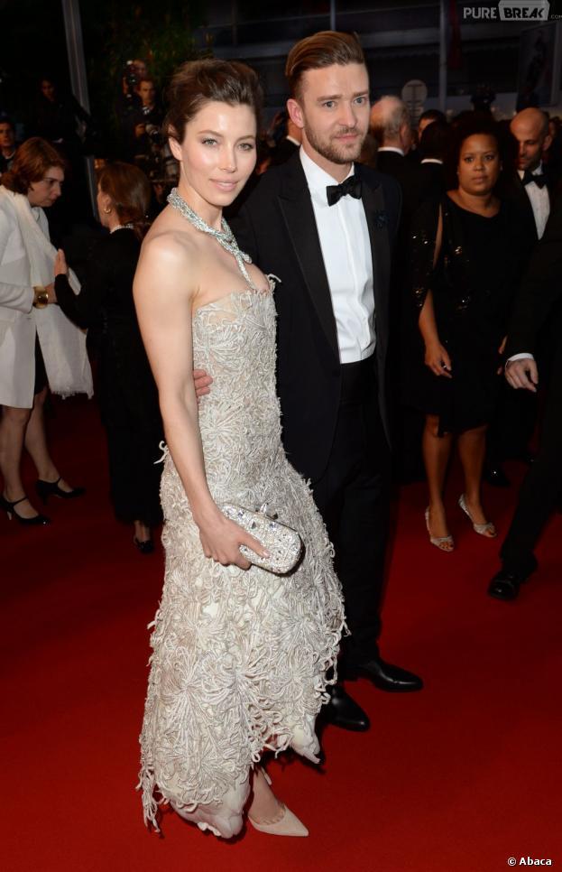 Justin Timberlake et Jessica Biel encore plus classe qu'à leur mariage, pour la montée des marches du Festival de Cannes le 19 mai 2013