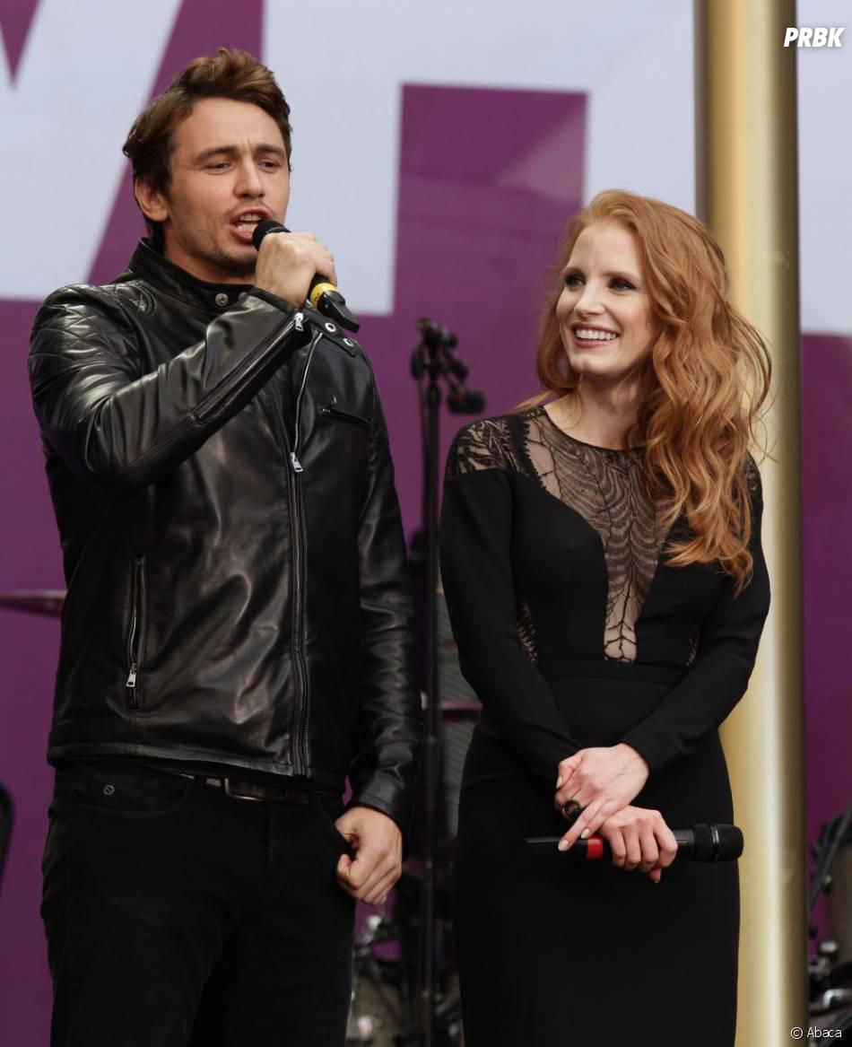 James Franco et Jessica Chastain au concert Sound for Change