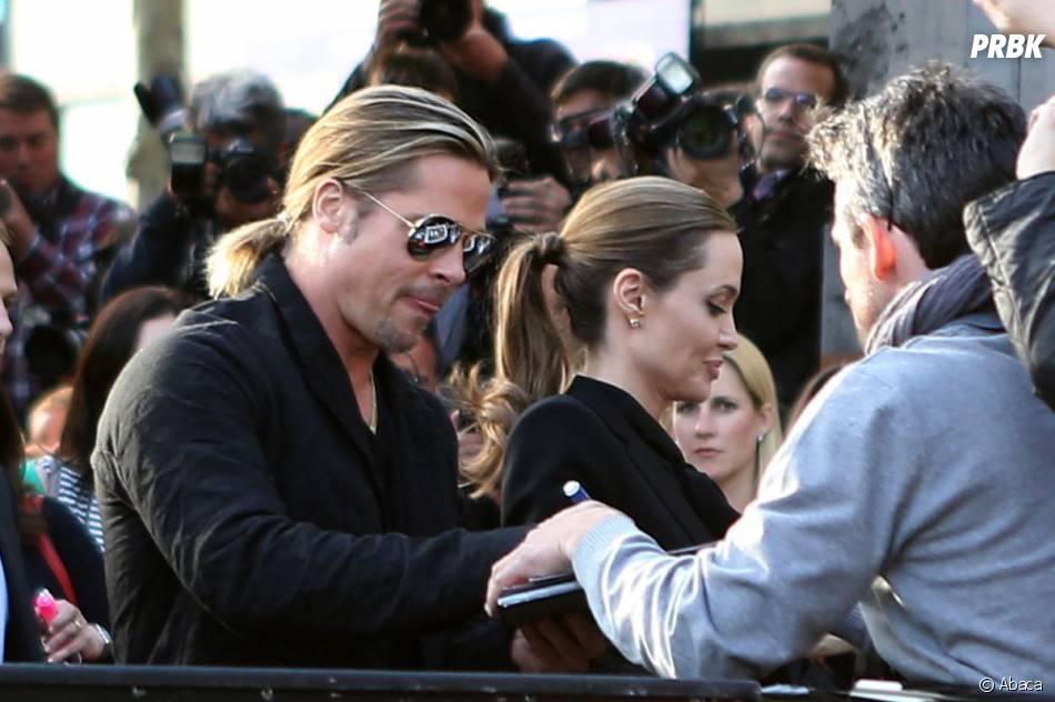 World War Z : Brad Pitt et Angeline Jolie à l'avant-première à Paris