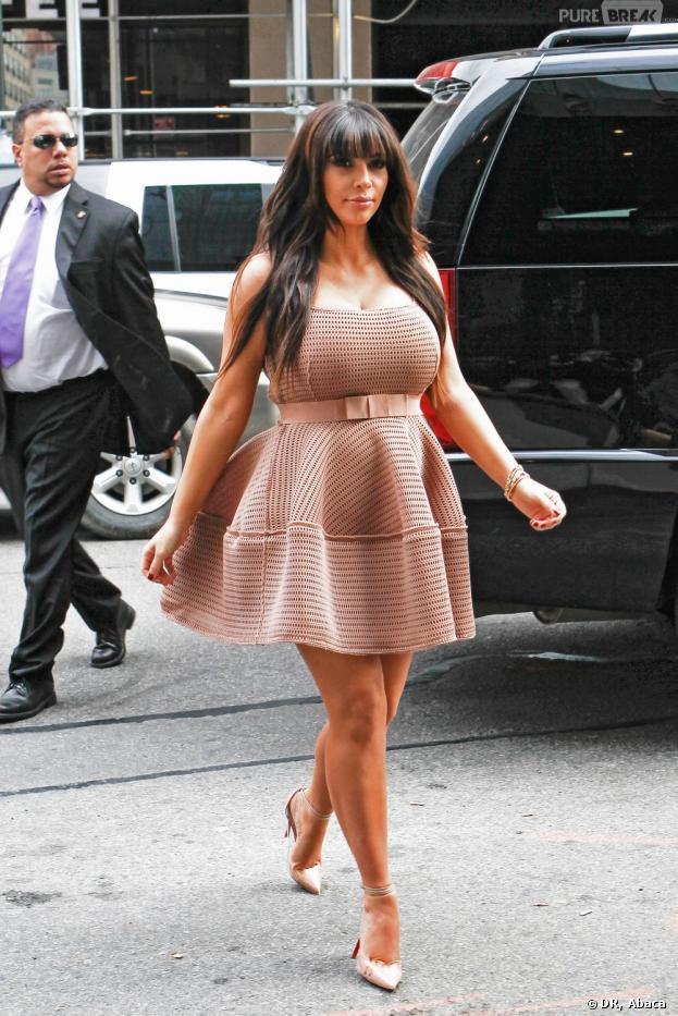 Kim Kardashian sur le point d'exploser à New York le 26 mars 2013.